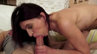 Smalltit mature riding cock in cowgirl