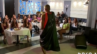 Hot girls go carzy for whipped ball batter and strippers