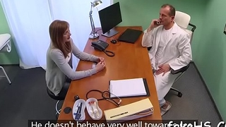 Immodest doctor doesn'_t wish her partner to stop fucking her