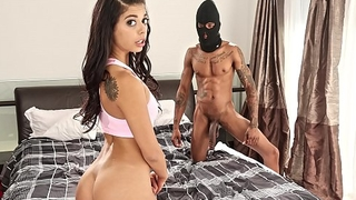 BANGBROS - Burglar With Big Black Cock Steals Gina Valentina'_s Pussy