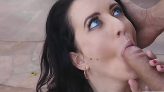Pygmy Ruby Patched gets a wicked outdoor sex with some bigcock