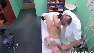 Highly horny doctor enjoys the thrilling therapy a lot
