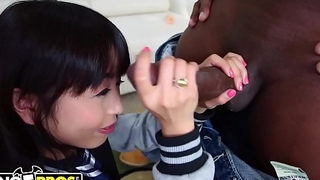 BANGBROS - Petite Asian Marica Hase Gets A Big Black Dick On Monsters Of Flannel