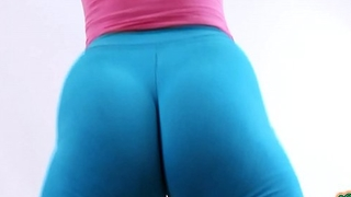AMAZING HUGE PUFFY CAMELTOE and TIGHT On touching ASS in LEGGINGS