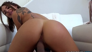 PropertySex - Hot couch surfing babe cures germaphobe with pussy