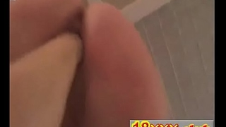 sexy girl riding her boyfriends fist