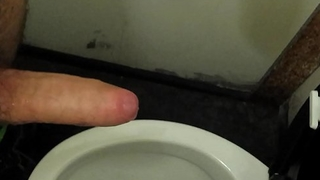 BIG perishable cock HUGE CUM in resuscitate toilet (with FLESHLIGHT) - Almost 10 spurts !!!