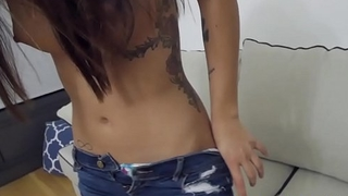 Teen stepsis guzzles jizz