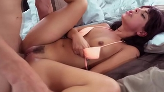 Roughfucked latina teen gets jizzed in mouth