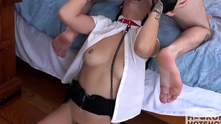 Asian Schoolgirl Rough Hook Beside With Guy She Met Online