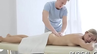 Clammy and messy cunt of a girlie endures toying and licking