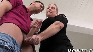 Delightsome darling and older mum are sharing a tough shaft
