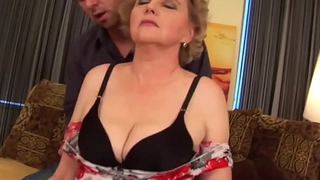 busty hairy mature gets rough fucked