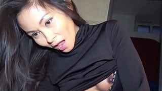 Super tight Thai pussy fucked in a gas station'_s toilet