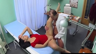 Contaminate pussy fucks nurse and patient in office
