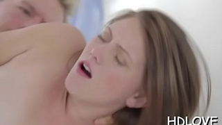 Pretty darling is groaning wildly as guy pounds her anal tunnel