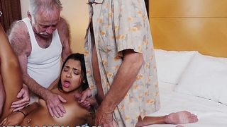 BLUE PILL Admass - Three Old Men And A Latin Young gentleman Named Nikki Kay