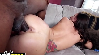 BANGBROS - Jamie Jackson Takes Rico Strong'_s Big Jet Dick In Her Tight Pink Pussy